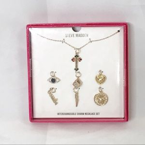 Steve Madden interchangeable charm necklace nib